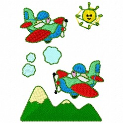 Stunt Airplanes embroidery design