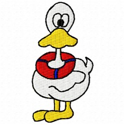 Safety Duck embroidery design