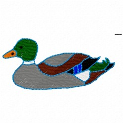 Duck Mallard embroidery design