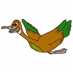 Flying Duck embroidery design
