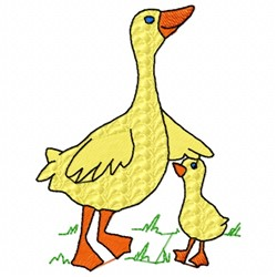 Ducky Family embroidery design