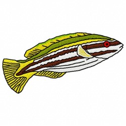 Stripped Fish embroidery design