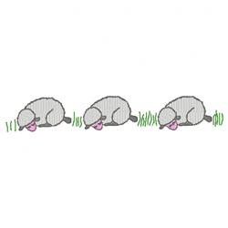 Sleeping Sheep embroidery design