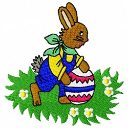 Bunny Egg embroidery design