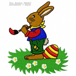 Easter Painter embroidery design
