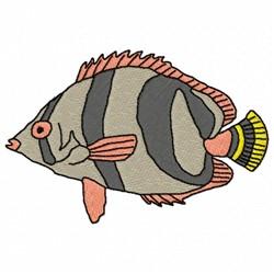 Stripe Fish embroidery design