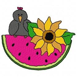 Mellon Bird embroidery design