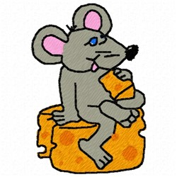 Mouse Cheese embroidery design