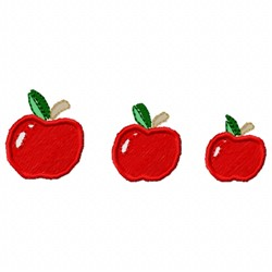 Three Apples embroidery design