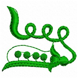 Pea Pod embroidery design