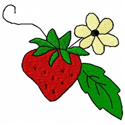 Strawberry Flower embroidery design