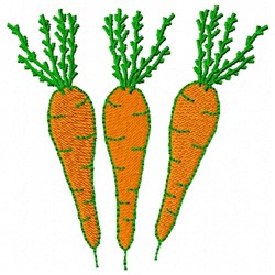 Carrot Roots embroidery design