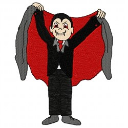 Dracula embroidery design