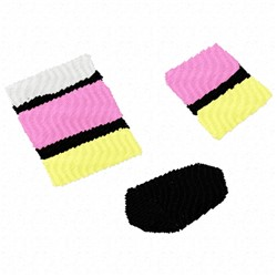 Liquorice Pieces embroidery design