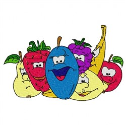 Cartoon Fruits embroidery design