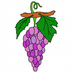 Grapes Bunch embroidery design