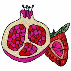 Pomegranate Strawberry embroidery design