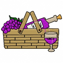 Wine Basket embroidery design