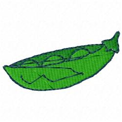 Green Pea Pod embroidery design