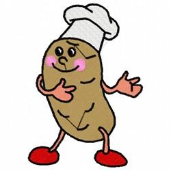 Potato Chef embroidery design