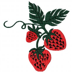 Strawberry Vine embroidery design