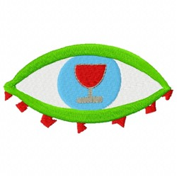 Eye Glass embroidery design