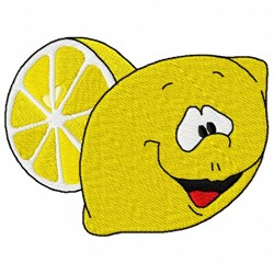 Lemon Face embroidery design
