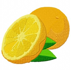 Orange Fruit embroidery design