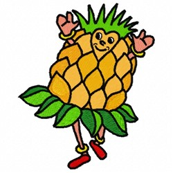 Pineapple Man embroidery design