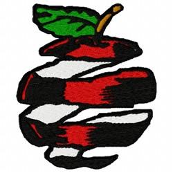Apple Peel embroidery design