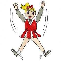 Cheerleader Girl embroidery design