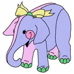 Elephant Toy embroidery design