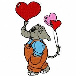 Elephant Hearts embroidery design