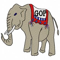 GOP Elephant embroidery design