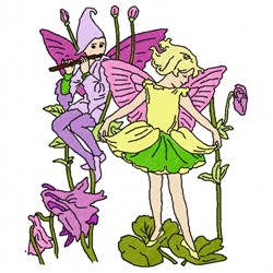 Dancing Fairy embroidery design