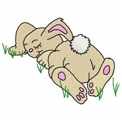Sleeping Bunny embroidery design