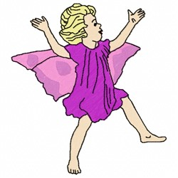 Jumping Fairy embroidery design