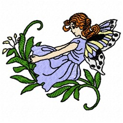 Floral Fairy embroidery design