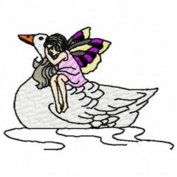 Duck Fairy embroidery design