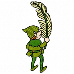 Elf With Leaf embroidery design