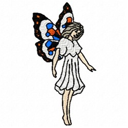 Fairy embroidery design