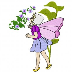 Girl Fairy embroidery design