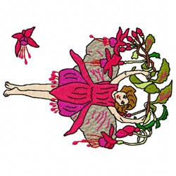 Fuschia Fairy embroidery design