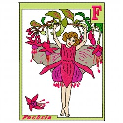 Fuchsia Flower Fairy embroidery design