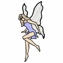 Lady Fairy embroidery design