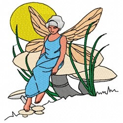 Sitting Fairy embroidery design