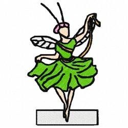 Fairy Grasshopper embroidery design