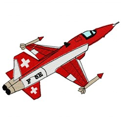 Swiss Plane embroidery design
