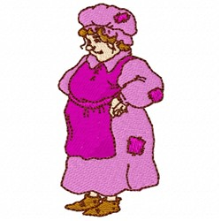 Old Woman embroidery design
