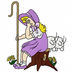 Little Bo Peep embroidery design